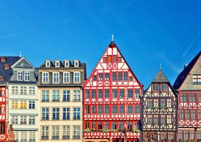Old traditional buildings in Frankfurt